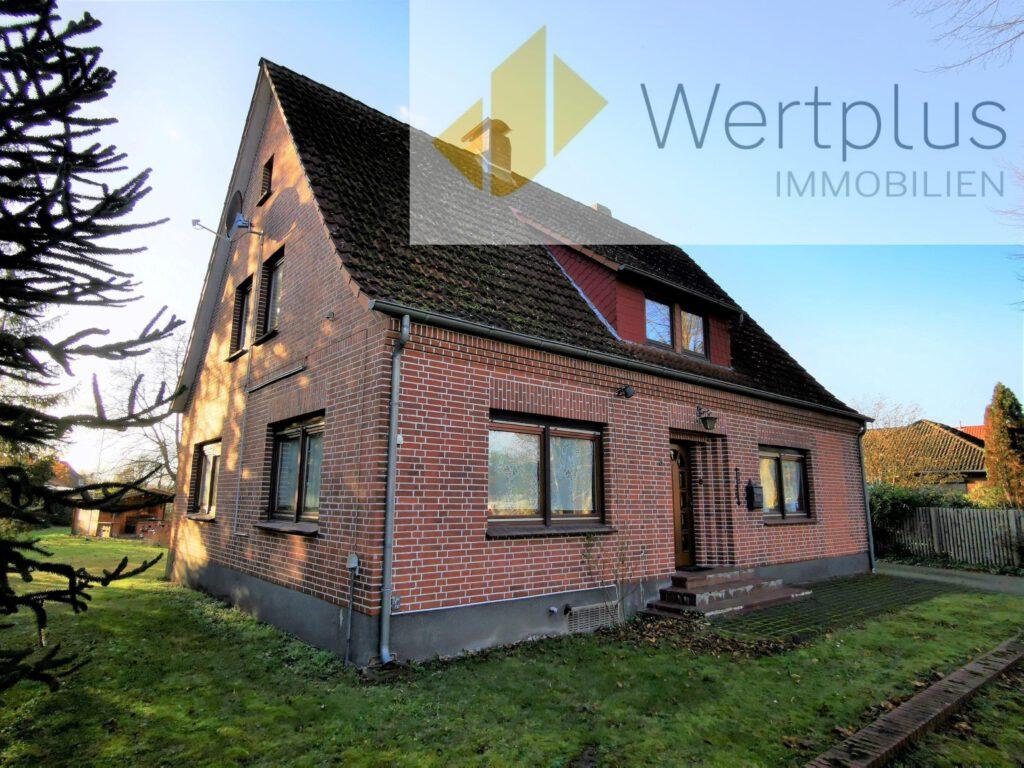 Immobilienangebot: Einfamilienhaus mit Einliegerwohnung in Jeddingen Fachwerk Kotten bei Visselhövede - Wertplus Immobilien